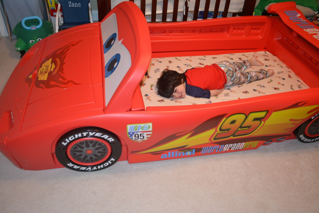 DSC 0165 1024x682 Delta Childrens NEW Pixar Cars Convertible Toddler to Twin Bed is AMAZING!!!