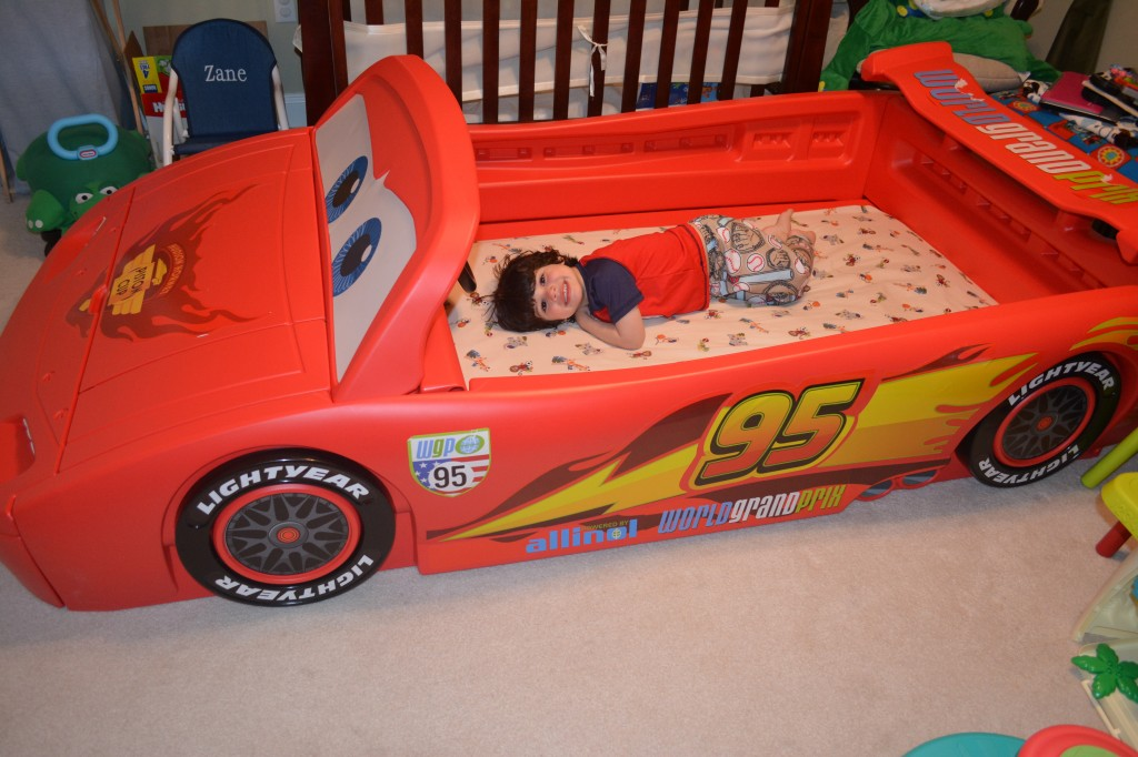 DSC 0166 1024x682 Delta Childrens NEW Pixar Cars Convertible Toddler to Twin Bed is AMAZING!!!