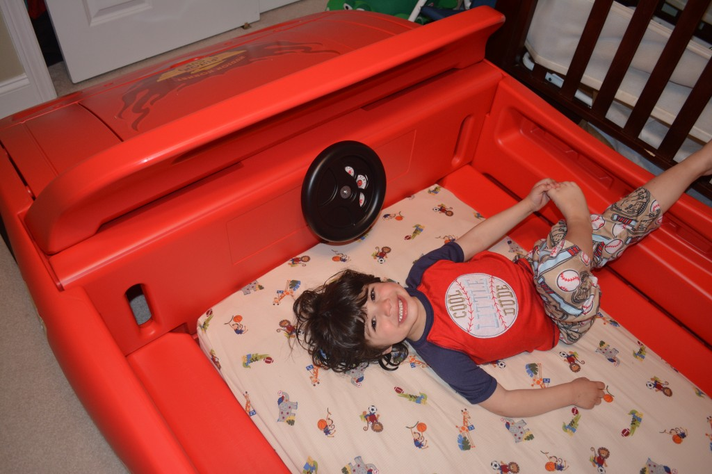 DSC 0167 1024x682 Delta Childrens NEW Pixar Cars Convertible Toddler to Twin Bed is AMAZING!!!