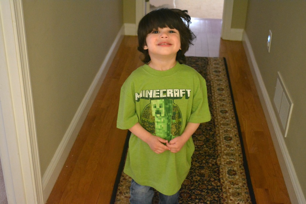 DSC 0200 1024x682 Minecraft Shirts available at Crazy 8!