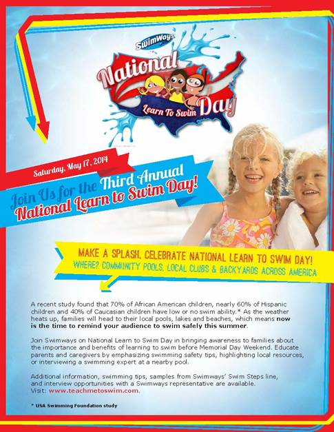 image001 National Learn to Swim Day on Saturday, May 17  Swimways is there to Help!
