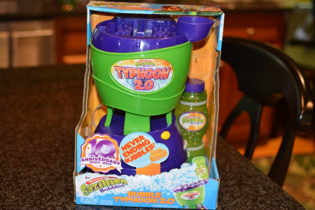 DSC 04152 1024x682 Typhoon 2.0 Bubble Blowing Machine Review and Giveaway!