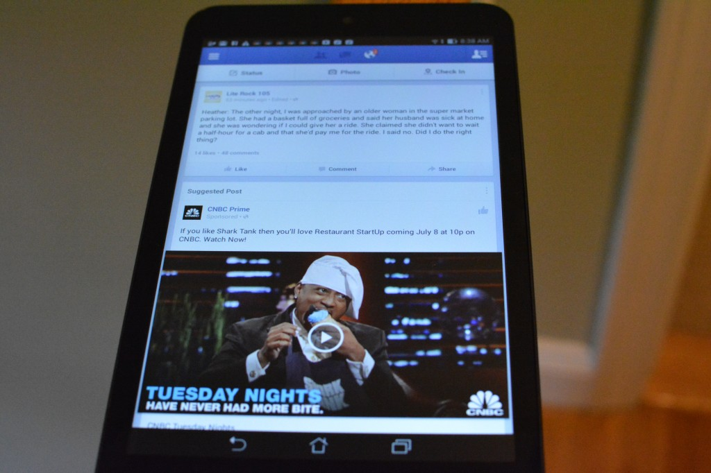 DSC 0434 1024x682 Asus MeMO Pad 8 (ME181) Android Tablet Review and Giveaway!