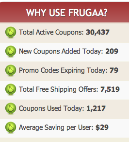 Screen Shot 2014 06 26 at 12.52.31 PM Frugaa for savings and a $50 Amazon Gift Card Giveaway!