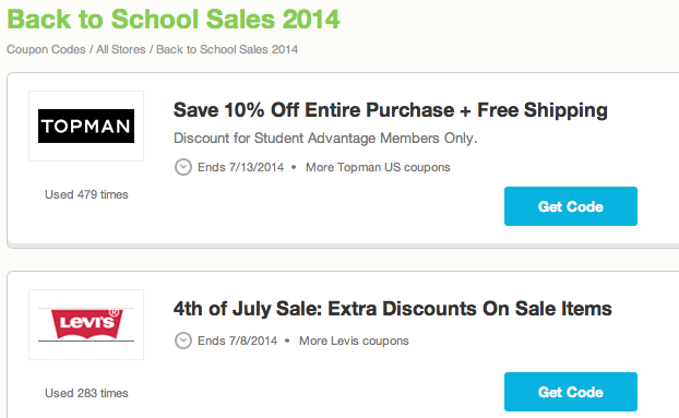 Screen Shot 2014 07 06 at 10.18.40 AM Back to school offers and the Back to School sweepstakes from Coupons.com