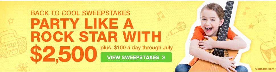 Screen Shot 2014 07 27 at 2.06.17 PM Back to School sweepstakes at Coupons.com  Getting the Kids Ready for Back to School!
