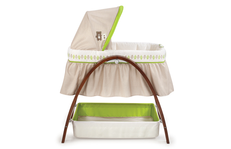 26070 IMG G BASSINET R SILO 466x302 Summer Infant Bentwood Bassinet With Motion is a Great Baby Product!