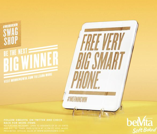 Screen Shot 2014 09 15 at 5.33.39 PM The  BelVita #MorningWin Swag Shop is now open! Enter to win Swag!