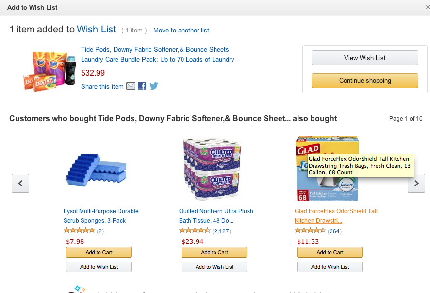 Screen Shot 2014 10 09 at 1.31.59 PM Creating the Perfect College Laundry Care Package with Amazon Wish List!