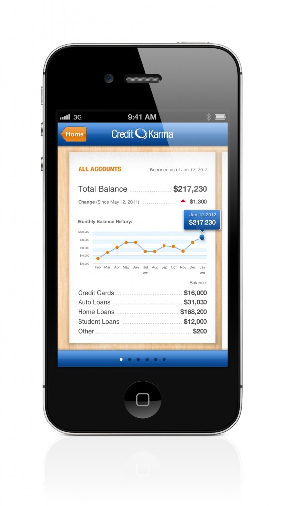 Credit Karma Mobile iPhone Accounts 577x1024 Credit Karma™ to help you achieve and maintain great credit!