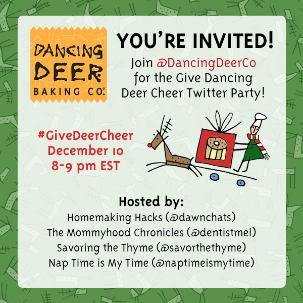 unnamed3 Please join me for the #GiveDeerCheer Twitter Party 12/10 8 pm EST!