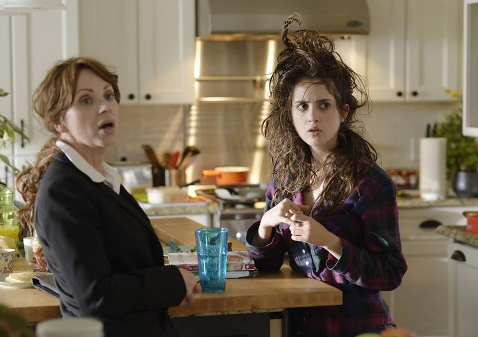 "BAD HAIR DAY - Disney Channel viewer favorites Laura Marano (""Austin & Ally"") and Leigh-Allyn Baker (""Good Luck Charlie"") star in ""Bad Hair Day,"" a buddy comedy about a high school tech-whiz whose prom day abruptly shifts into a wild ride across town, thanks to a down-on-her-luck cop and a jewel thief. Leigh-Allyn Baker also executive-produces this Disney Channel Original Movie, premiering FRIDAY, FEBRUARY 13 (8:00 p.m., ET/PT). (Disney Channel/Phillippe Bosse) LEIGH-ALLYN BAKER, LAURA MARANO"