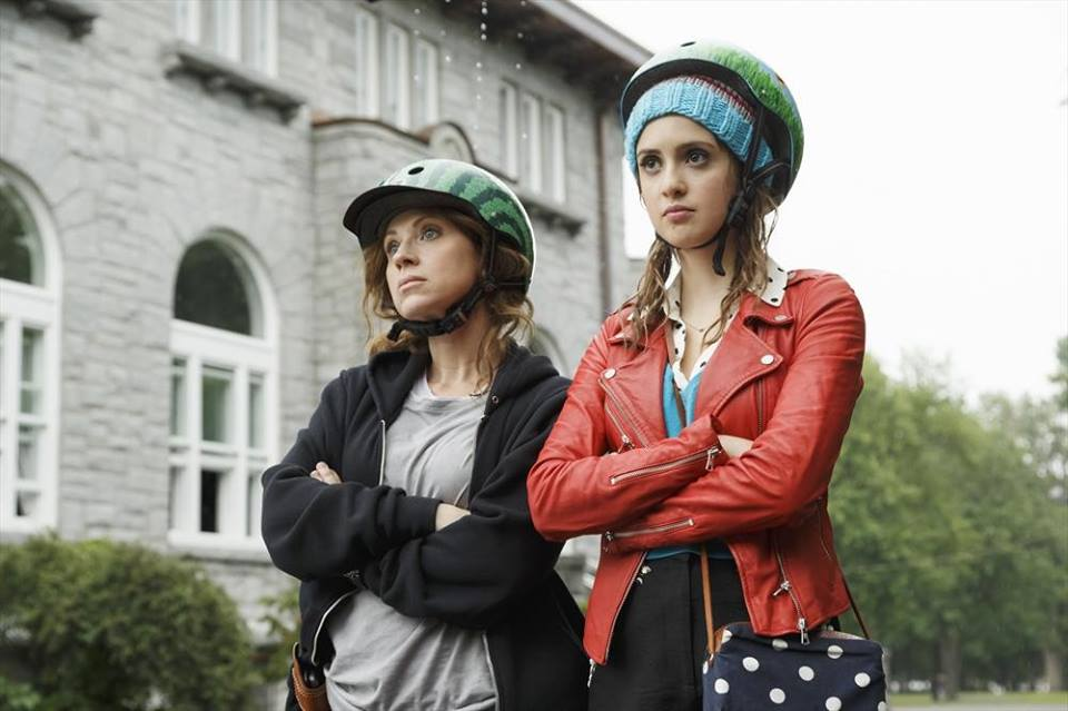 "BAD HAIR DAY - Disney Channel viewer favorites Laura Marano (""Austin & Ally"") and Leigh-Allyn Baker (""Good Luck Charlie"") star in ""Bad Hair Day,"" a buddy comedy about a high school tech-whiz whose prom day abruptly shifts into a wild ride across town, thanks to a down-on-her-luck cop and a jewel thief. Leigh-Allyn Baker also executive-produces this Disney Channel Original Movie, premiering FRIDAY, FEBRUARY 13 (8:00 p.m., ET/PT). (Disney Channel/Jan Thijs) LEIGH-ALLYN BAKER, LAURA MARANO"