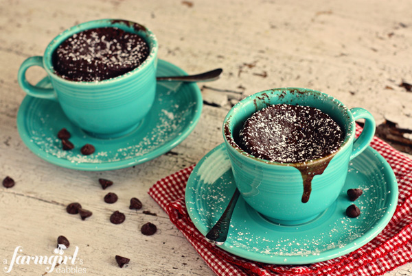 600afdate cake cups for two 15 Delicious ALL CHOCOLATE Desserts! @Foodie