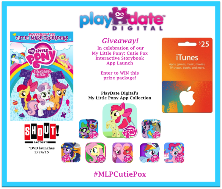 unnamed My Little Pony: Cutie Pox New StoryBook App and a My Little Pony DVD/Cutie Pox App/ $25 iTunes Gift Card Giveaway!