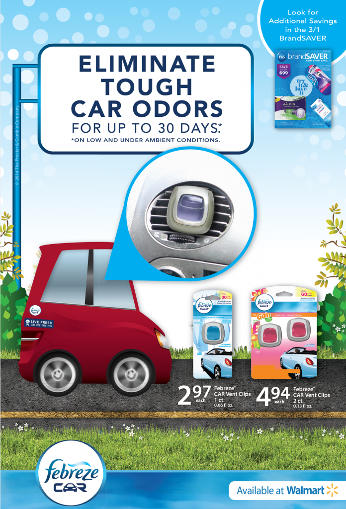 2 02272015144951 696x1024 Febreze Car Vent Clips   Great Fresheners and a $25 Walmart Giveaway!
