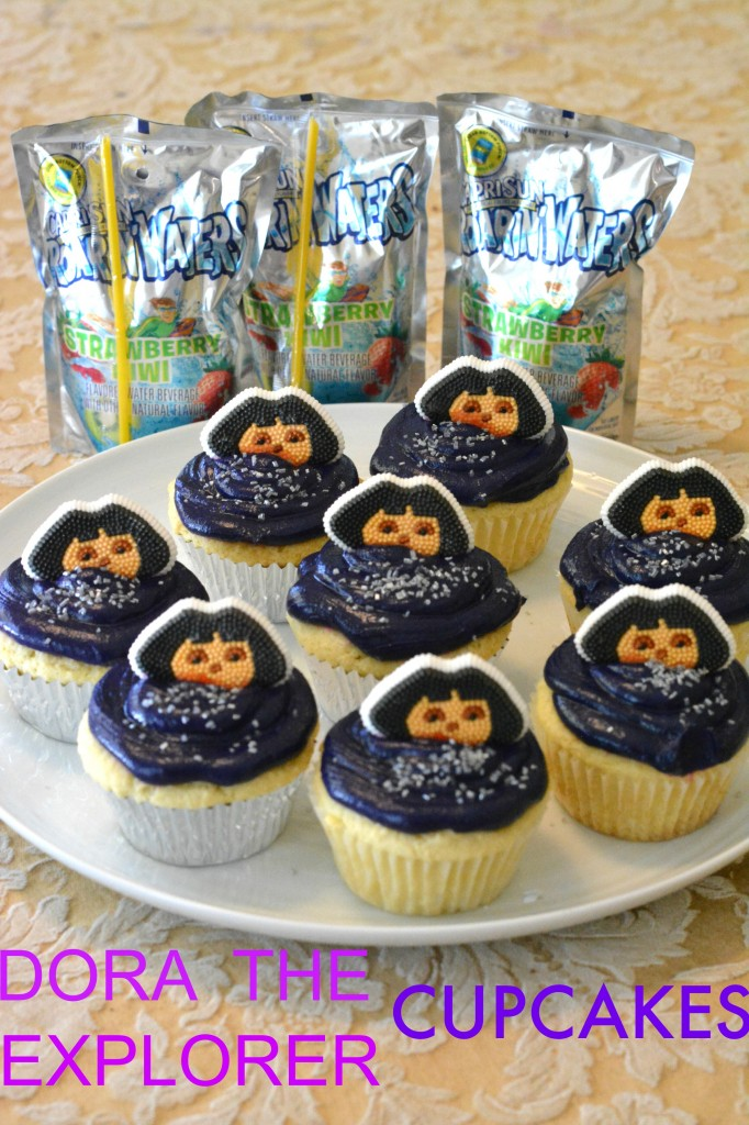 DSC 0562 682x1024  Capri Sun Roarin Waters and a Dora the Explorer Cupcake Recipe!