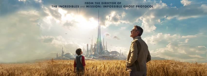 Tomorrowland Poster Field City 1 My Interview with the ONE and ONLY GEORGE CLOONEY Part 1! #TomorrowlandEvent
