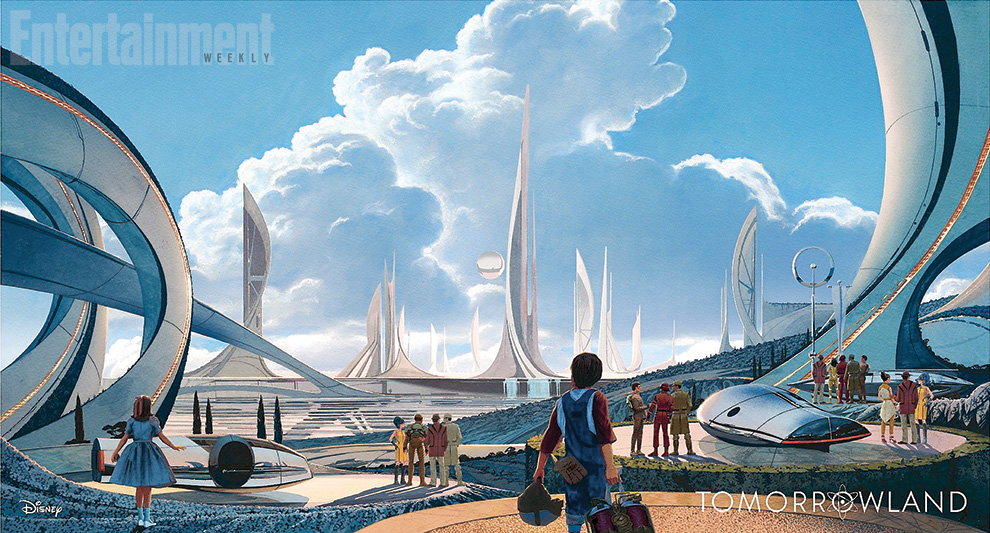 Tomorrowland Syd Mead Concept Art1 Tomorrowland is one MOVIE you do not want to MISS this weekend! #TomorrowlandEvent