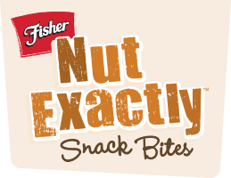 nut exactly logo w brown2 New Fisher Nut Exactly Snack Bites and a $50 Visa Gift Card Giveaway! #FisherNutExactly