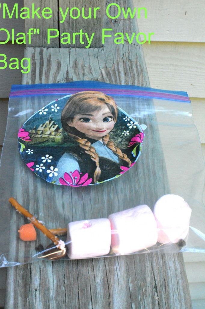 DSC 00551 682x1024 How to Make Frozen How to Make Olaf Themed Party Bags!!