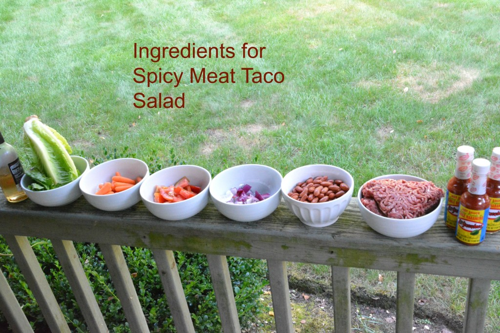 DSC 0191 1024x682 Spicy Meat Taco Salad Recipe for Football Season!