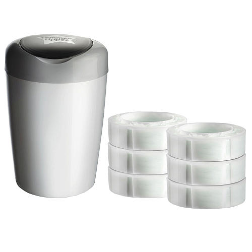 Tommee Tippee Simplee Pail with pTRU1 21251994dt Tommee Tippee Simplee Diaper Pail  Perfect to Take Away the Smell!