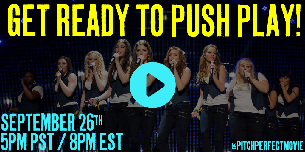 ushe pp2 TWParty pushPlay 01  #PitchPerfect2Party Twitter Party Saturday 9/26 8 PM EST! @PitchPerfect