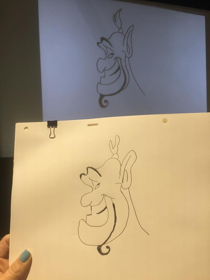11230784 10153589550704356 2040010791034635991 n I Drew A Genie Thanks to the Wonderful Aladdin Animator, Eric Goldberg! #AladdinBloggers