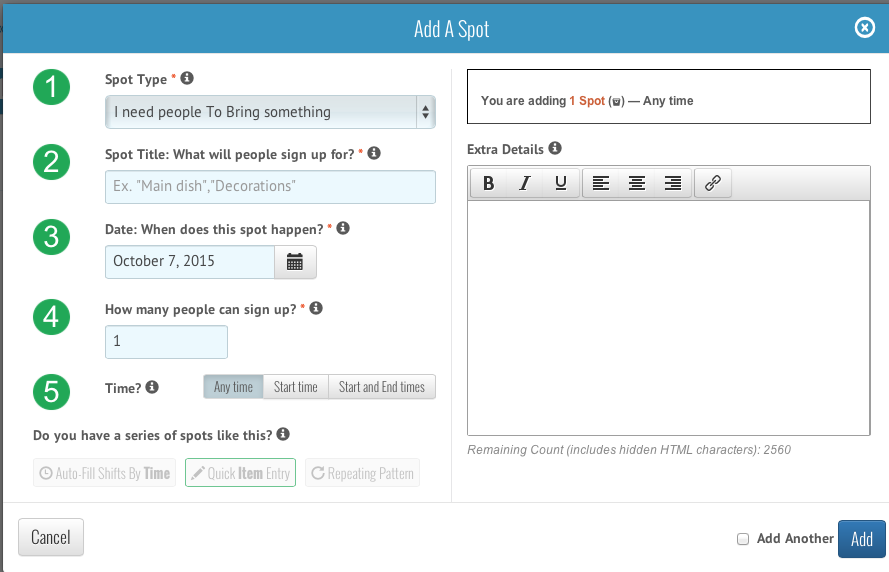 Screen Shot 2015 10 06 at 9.19.28 AM Event Planning with VolunteerSpot! #SignUpSpot