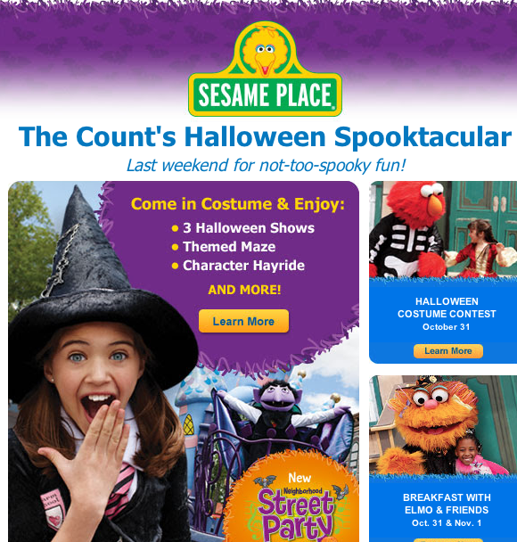 Screen Shot 2015 10 29 at 12.14.16 PM Last weekend of The Counts Halloween Spooktacular! #SesamePlace