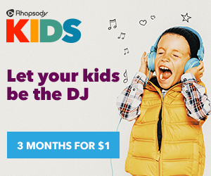 unnamed 1 Some Awesome Music with Rhapsody KIDS and a $300 Target Gift Card Giveaway!
