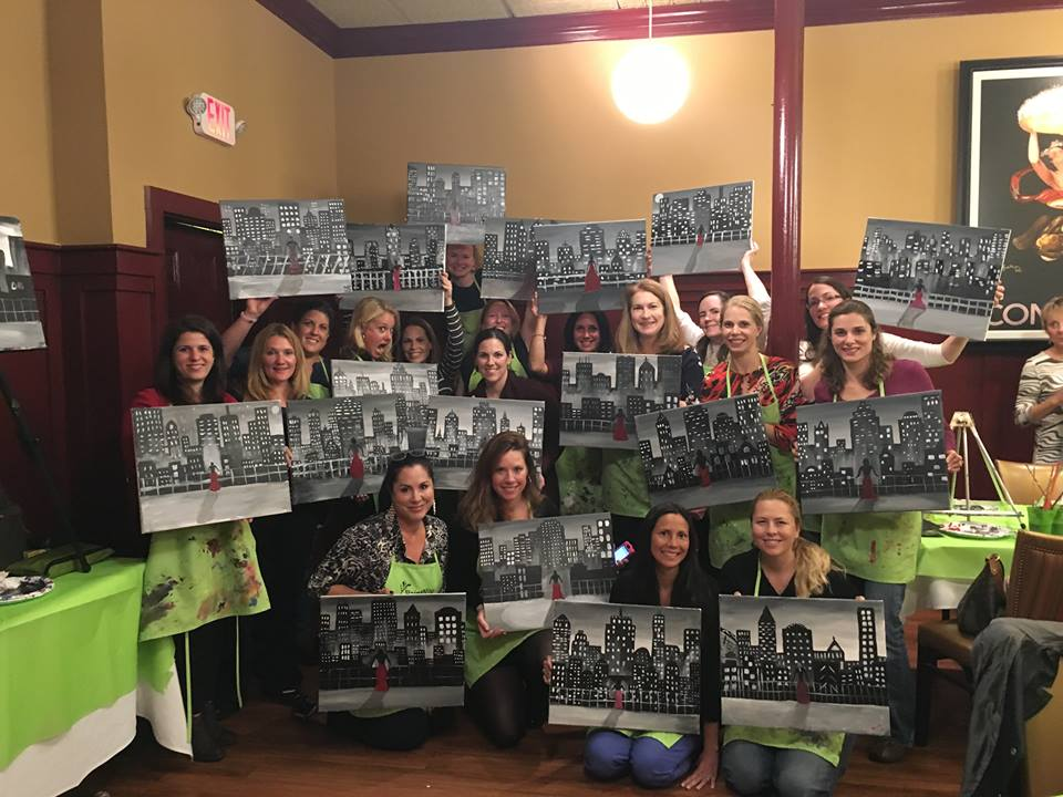 10534601 10206980807032361 144885388940838004 n Lets Have Some Fun at Paint Nite! Perfect for Girls Night!