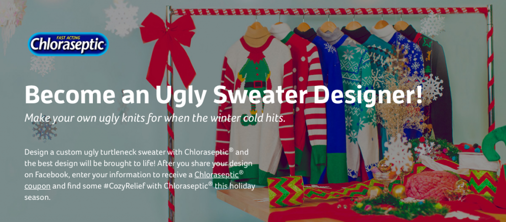 Screen Shot 2015 12 14 at 12.36.39 PM 1024x451 Chloraseptic   #CozyRelief and Ugly Sweaters! Enter the Ugly Sweater Contest!!!