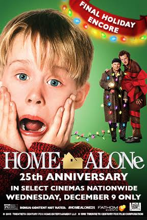 Home Alone is celebrating its 25th anniversary by returning to cinemas nationwide for a special one night event 12/9!