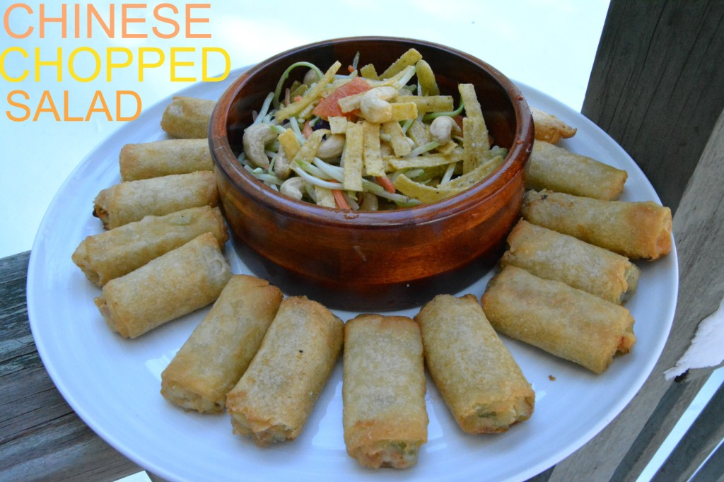 DSC 0769 1024x682 Pagoda Chicken Eggrolls and a Chinese Chopped Salad Recipe for the Chinese New Year!