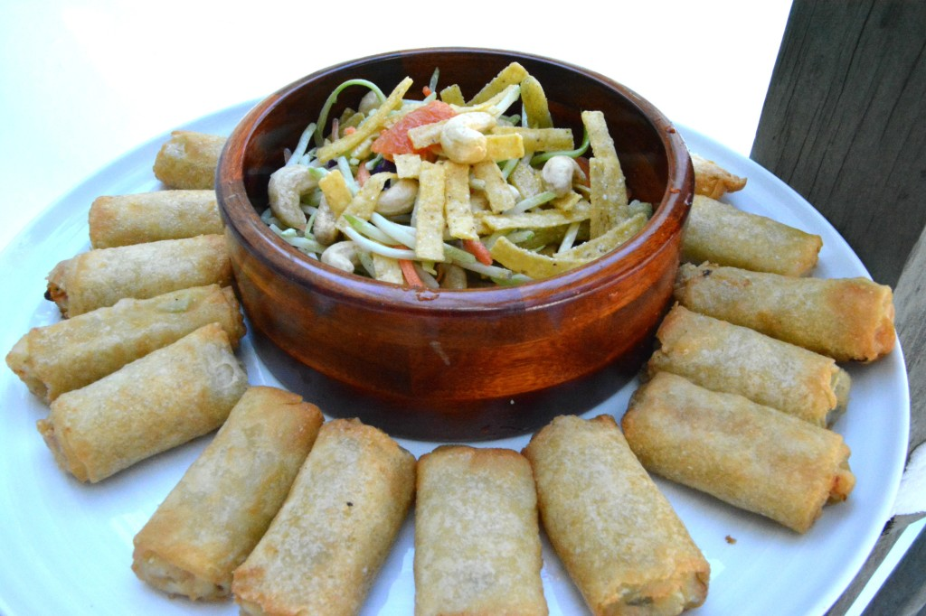 DSC 0770 1024x682 Pagoda Chicken Eggrolls and a Chinese Chopped Salad Recipe for the Chinese New Year!