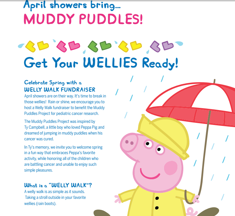 Screen Shot 2016 04 16 at 3.50.13 PM April showers bring…muddy puddles.. Peppa Pigs The Muddy Puddles Project!