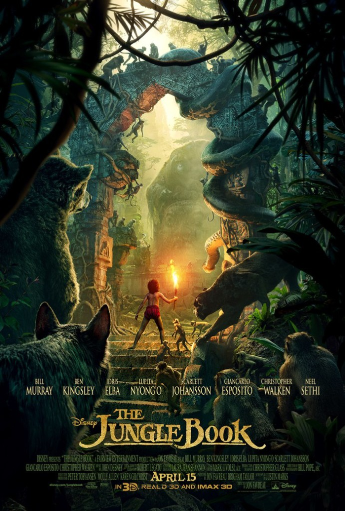 "The Jungle Book Poster 691x10241 We Interviewed Sir Ben Kingsley (voice of ""Bagheera"")! #JungleBookEvent"