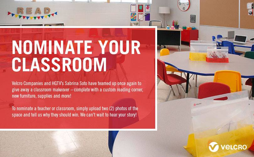13256113 1043714979008292 7567338766450954204 n VELCRO® Brand Classroom Makeover Contest  ENTER TODAY for your SCHOOL!