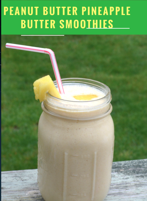 Screen Shot 2016 09 22 at 5.43.55 PM Upside Down Pineapple Peanut Butter Smoothie Recipe!