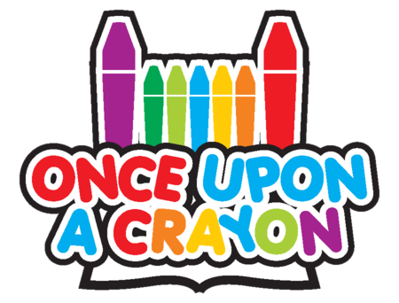 logo Once Upon a Crayon   Coloring Books that Educate as Well as Entertain!