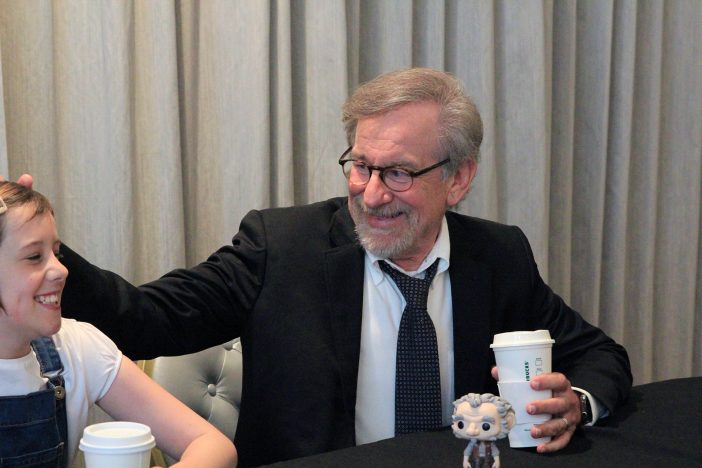 "ruby and steven 702x4681 The Most AMAZING interview  Steven Spielberg & Ruby Barnhill (""Sophie"") from #TheBFGEvent!"