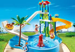 unnamed PLAYMOBIL Water Park with Slides Playset Review and Giveaway!