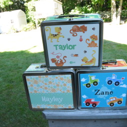 Personalized Kids Lunch Boxes from Caleb Gray Studio Review + Giveaway! + 3 other personalized kids items!!
