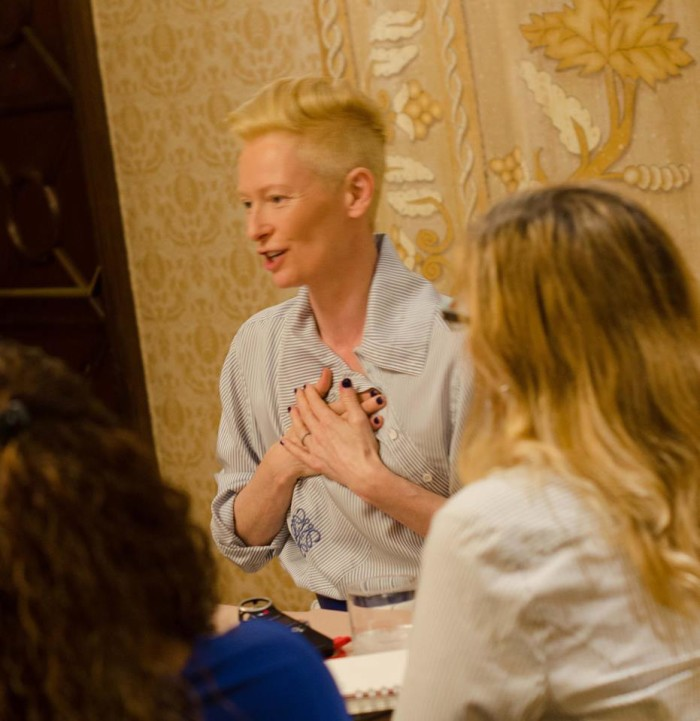 """14670705 10109066954138044 1357058331274438624 n 700x721 My Interview with Tilda Swinton (""""The Ancient One"""")! #DoctorStrangeEvent"""