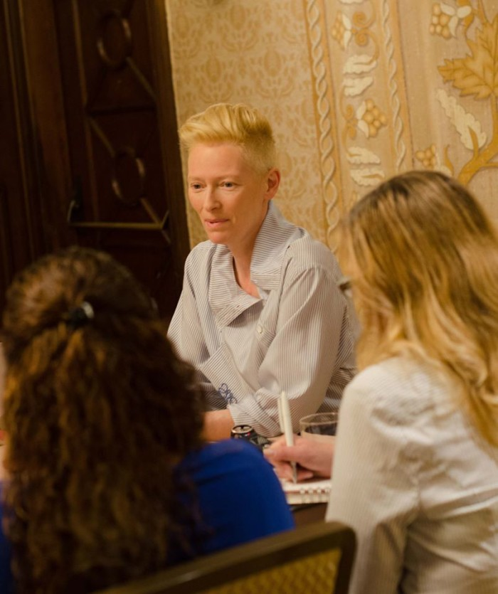 """14682084 10109066953718884 4098189273305122985 o 700x835 My Interview with Tilda Swinton (""""The Ancient One"""")! #DoctorStrangeEvent"""