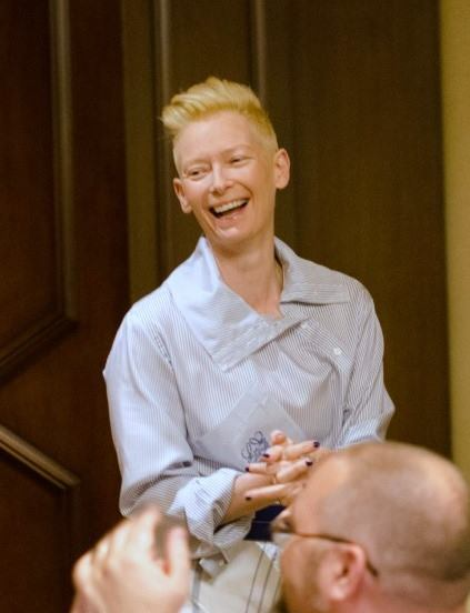 """14705752 10109066952680964 3201261704780716532 n My Interview with Tilda Swinton (""""The Ancient One"""")! #DoctorStrangeEvent"""