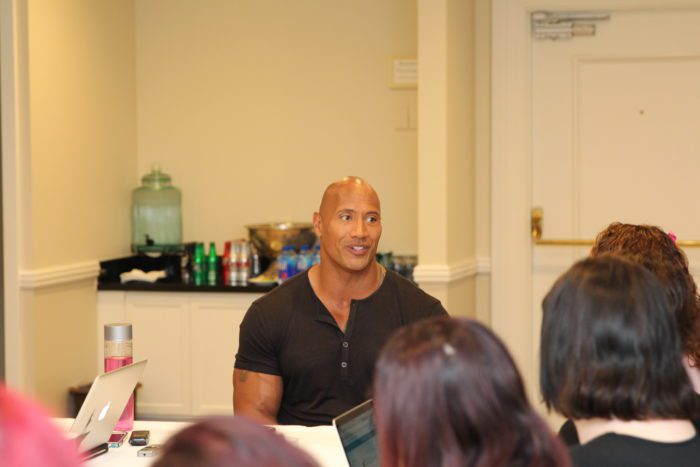 "Dwayne 3 e1479578937560 My Interview with Dwayne Johnson (voice of ""Maui"")! #MoanaEvent"