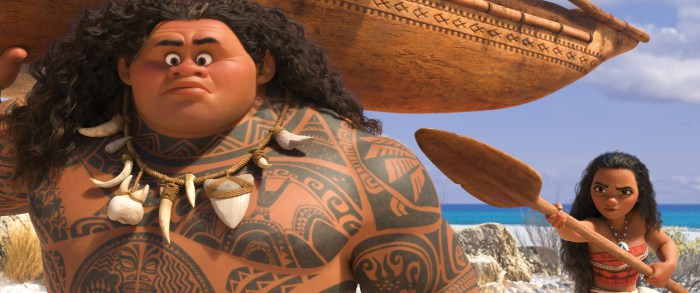 "Moana Image Maui and Moana on a boat Maui Surprised My Interview with Dwayne Johnson (voice of ""Maui"")! #MoanaEvent"